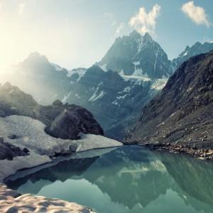 Peaceful Mountains and Lake